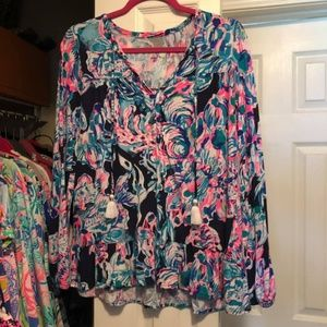 lilly pulitzer flowy top